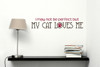 I May Not Be Perfect But My Cat Loves Me 2 Color Pet Wall Decal Red ChocBrown