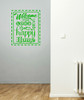 Welcome to Our Home Vinyl Wall Decal Saying for Entryway Decor-Lime Green