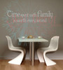 Time Spent With Family Worth Every Second Family Wall Decals for Home Decor-Warm Gray