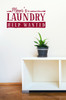Mom's Laundry Help Wanted - Funny Laundry Wall Decal Quote