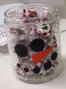 Snowman Face (Dots for Eyes, Mouth and Carrot Nose) Winter Wall Decal Art on candy jar