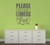 Excuse The Mess We Live Here Family Wall Decal Quote for Home Decor Gray