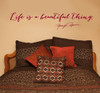 Life Is A Beautiful Thing Marilyn Monroe Wall Decal Quote For Home Decor-Red
