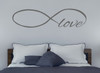 Love Wall Decal with Infinity Symbol for Bedroom Decor-Storm Gray