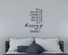 Kissing Forehead Love Quotes Wall Decals Words for Home Decor