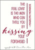 Kissing Forehead Marilyn Monroe Vinyl Decal Wall Quote for Home Decor