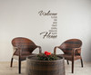 Welcome To Our...Fun Loud Crazy .. Home Vinyl Wall Decal Lettering-Chocolate