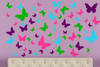 Butterfly Wall Decals for Girls Room, Vinyl Stickers to Decorate with 4 Colors