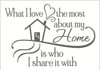 What I Love Most About My Home Quotes Wall Letters Vinyl Decal