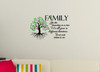 Family Quote, Like Branches on a Tree, Wall Art Sticker Vinyl Decal