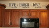 Live Laugh Love Inspirational Wall Decal Quote