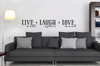 Live Laugh Love Inspirational Wall Decal Quote-Black