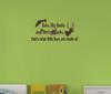 Bass Bucks Dirty Trucks Boys Wall Decal Stickers Saying-Chocolate Brown