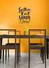 Kitchen Quotes Gather Eat Laugh Bond Dining Room Kitchen Wall Decals-Black
