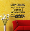 What your Soul Needs Inspirational Saying Quote Vinyl Wall Decals-Black