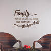 Family Quotes Wall Letters We May Not Have It All But Together We Have It All-Chocolate Brown