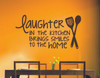 Laughter in the Kitchen Brings Smiles to the Home Wall Decals Kitchen Quotes-Black