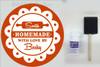 Etching Kit for Round Glass Dish Scallop Circle Vinyl Sticker Stencil, Cream, Brush
