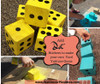Dots Stickers for Yard Yahtzee Block Cubes Polka Dots Peel Stick