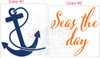 Seas the Day with Anchor Nautical Beach Summer Wall Decals Sticker 2-color