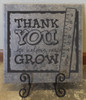 Thank you for Helping Me Grow Wall Decal for School Teacher-Black