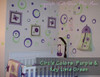 3-Color Wall Stickers Shapes Circles Rings and Dots for Home Decor Purple and KeyLime Green