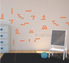 Tiny Triangles Wall Vinyl Sticker Shapes Peel-n-Stick Fun Easy Wall Decor Tribal Wall Pattern - Orange