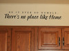 Be It Ever So Humble There's No Place Like Home Vinyl Wall Decal for Kitchen or Entryway Decor