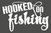 Hooked on Fishing Car Window Decal Sticker with Fishing Hook