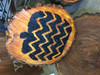 Painted on Wood Slab-Chevron Pumpkin Wall Decals for Fall Decor Autumn Holiday Wall Stickers