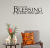 Blessing, Lord, Religious, Vinyl, Wall Decal, Kitchen, Living, Dining, Room, Home Decor