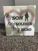 My Son, Soldier, Hero Framed Canvas Print Wall Art