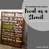Farming Rules The Good Life Wall Lettering Vinyl Stickers Decal Quotes as Stencil