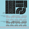 Road Tracks Cars Vehicles Boys Room Vinyl Wall Art Decals Stickers