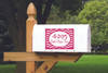 Mailbox Decals personalized with Address Chevron Stripe Frame