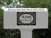 Personalized Address Stripe Mailbox Sticker Decal