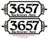 Personalized Address Mailbox Frame Sticker