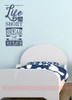 Life Is Short Break the Rules Wall Decal Sticker Word Art For Walls-Deep Blue