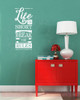 Life Is Short Break the Rules Wall Decal Sticker Word Art For Walls-White
