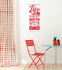 Life Is Short Break the Rules Wall Decal Sticker Word Art For Walls-Cherry Red