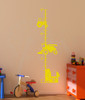 Farm Tractor Growth Chart Vinyl Sticker Decals Boy Bedroom Wall Art Decor-Yellow