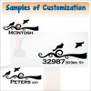 Custom Mailbox Decals Vinyl Stickers with Birds 2 color, Basic or Jumbo Sample Customization
