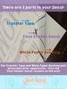 Decorative Mailbox Decals Vinyl Lettering Address Custom Trees Mountain Vinyl Stickers, Set of 2