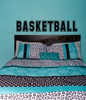 Basketball Lettering Wall Art Stickers Vinyl Decals, Boys Room Decor-Black