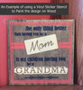 You As My Mom, Grandma To My Children Wall Stickers Vinyl Decals Lettering Quote Mother's Day Gift-Stencil