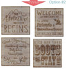 Stencil Sticker Decals for 12x12 Wood Sign Pallet Board, Option 2