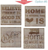 Stencil Sticker Decals for 12x12 Wood Sign Pallet Board, Option 6