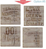 Stencil Sticker Decals for 12x12 Wood Sign Pallet Board, Option 5