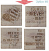 Stencil Sticker Decals for 12x12 Board Painting Parties, Option 8