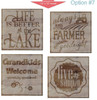 Stencil Sticker Decals for 12x12 Wood Sign Pallet Board, Option 7